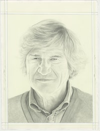 Portrait of Giuseppe Penone, pencil on paper by Phong H. Bui.