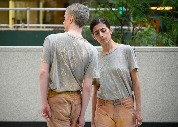 Maria Hassabi and Oisín Monaghan in <em>TOGETHER</em> (2019), June 26–27, 2020. Photo: Ian Douglas.