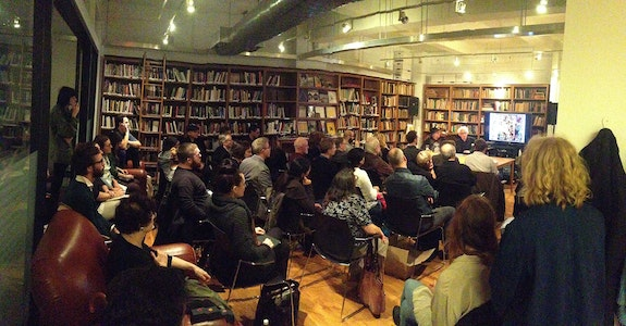 Quijote Talk in the Art Writing library on 21st Street.