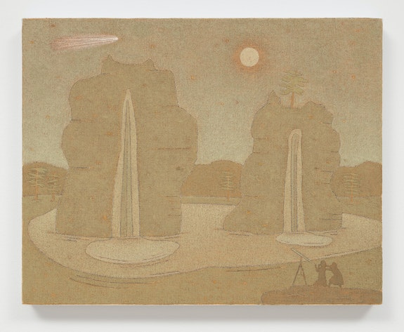John Dilg, <em>Twilight Expedition</em>, 2021. Oil on canvas, 16 x 20 x 1 1/2 inches. © John Dilg. Courtesy the artist and The National Exemplar Gallery, Iowa City. Photo: Lance Brewer.