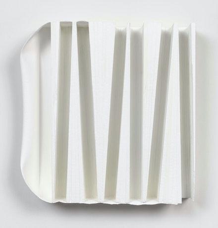 Joseph Mongtomery, <em>Image Five Hundred Fifty</em>, 2020. Acrylic on cedar and canvas. 17 1/2 x 17 inches. Courtesy Ceysson & Bénétière. Photo: ©Elisabeth Bernstein.