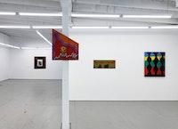 Installation view: <em>Be Natural: Joe Light and Chris Martin</em>, Parts & Labor, Beacon, New York, 2021. Courtesy Parts & Labor.