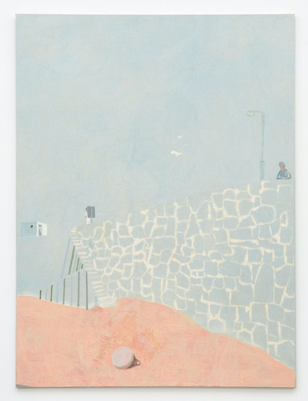 Andrew Cranston, <em>Cornwall, 1979</em>, 2021. Rabbit skin glue and pigment on bleached canvas, 94 1/2 x 70 7/8 inches. Courtesy the artist and Karma, New York.