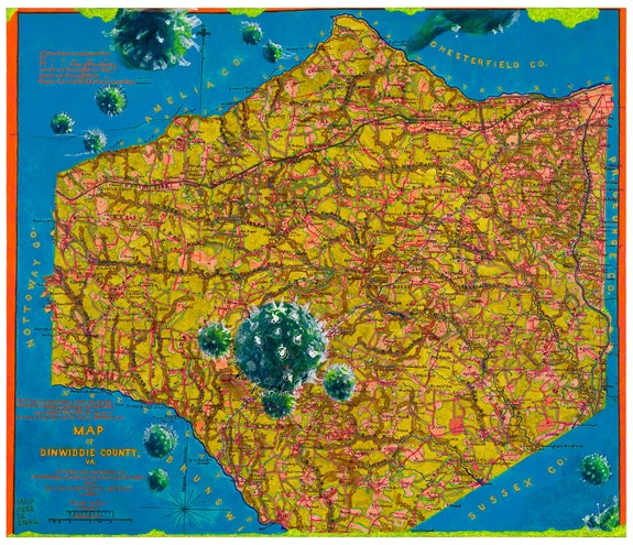 Joyce Kozloff, <em>Uncivil Wars: Battle of Petersburg</em>, 2021. Acrylic on canvas, 54 x 63 1/4 inches. Courtesy of the artist and DC Moore Gallery, New York.