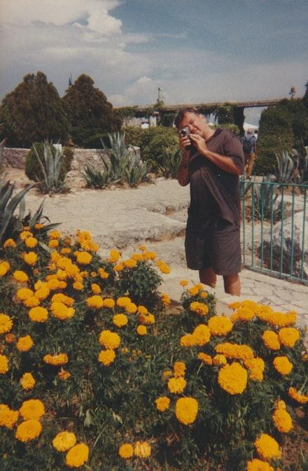 Diego filming in Capri. Courtesy Jordan Galland.