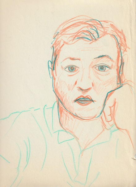 Drawing of Diego. Courtesy Jordan Galland.