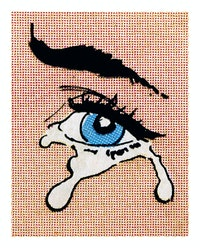 Anne Collier, <em>Woman Crying (Comic) #32</em>, 2020. C-print, 61 7/8 x 49 3/4 inches. © Anne Collier. Courtesy the artist and Anton Kern Gallery, New York.