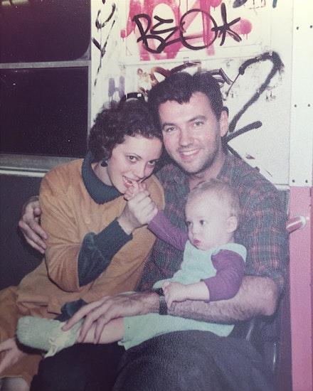 Diego with Judy and Malcolm DePalma, 1982. Courtesy Brett DePalma.
