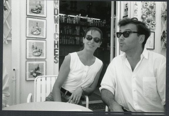 Alba Clemente and Diego Cortez, Italy, 1988. Photo: Raymond Foye.