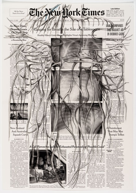 "Tatiana Trouvé, ""From March to May,"" 2020, Inkjet print, pencil on paper, 16  9/16 x 11  5/8 in. (42 x 29.5 cm) Photo: Florian Kleinefenn. © Tatiana Trouvé"