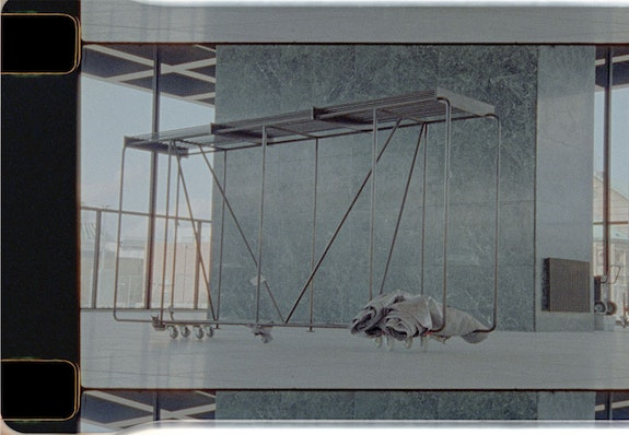 Rosa Barba, <em>Plastic Limits, For the Projections of Other Architectures</em>, 2021. 35mm film (color, optical sound), 14.30 min. Courtesy the artist and Esther Schipper, Berlin. Image: Film still © Rosa Barba