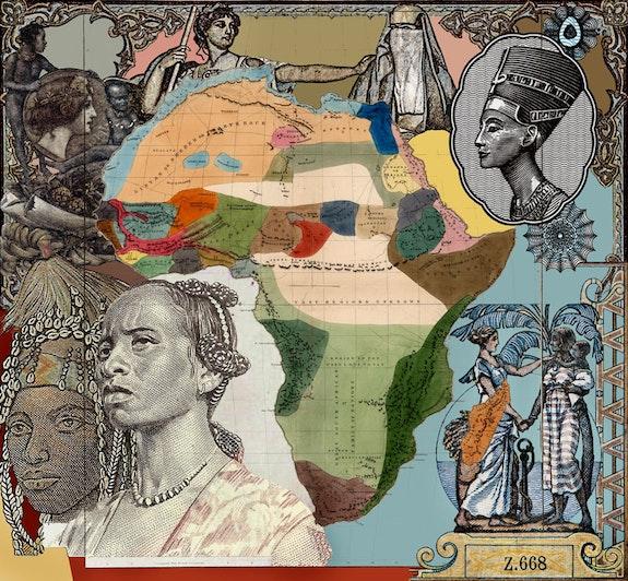 Malala Andrialavidrazana, <em>Figures 1861, National History of Mankind</em>, 2016. UltraChrome pigment print on Hahnemühle Cotton Rag, 47 ¼ x 51 3/16 in. Courtesy the artist. © Malala Andrialavidrazana