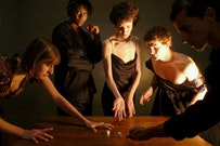 From <i>The Cenci</i>, pictured left to right: Lauren Blumenfeld, Tanisha Thompson, Anna Fitzwater, Alexander Nifong. Photo by Josef Astor.