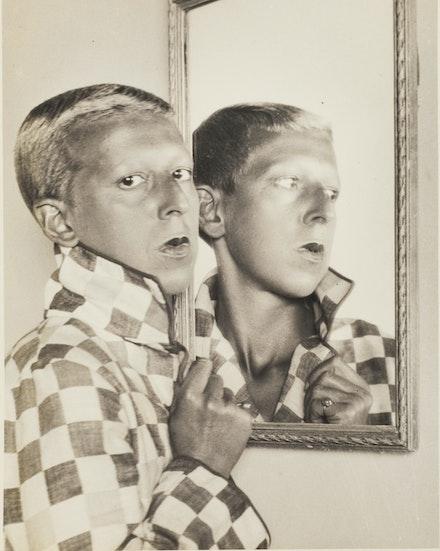 Claude Cahun, <em>Self-Portrait</em>, ca. 1927. Gelatin silver print, 10 1/16 x 7 15/16 inches. Wilson Centre for Photography.