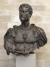 <p>Benvenuto Cellini, <em>Cosimo I de' Medici</em>, 1545. Bronze, 43 5/16 x 38 9/16 inches. Museo Nazionale del Bargello. Su concessione del Ministero della Cultura. Photo: Antonio Quattrone.</p>