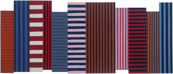 Sean Scully, <em>Backs and Fronts</em>, 1981. Oil on linen and canvas, 96 x 240 inches. Collection of the artist. Courtesy Magonza, Arezzo. © Sean Scully. Photo: Michele Sereni.