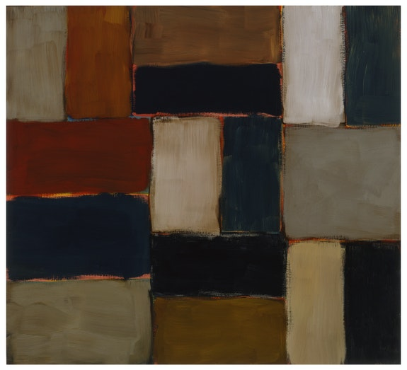 Sean Scully, <em>Mooseurach, 2002</em>. Oil on linen, 60 x 66 inches. Collection of the artist. Courtesy the artist. © Sean Scully.