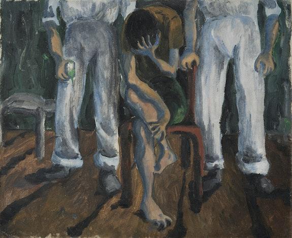 Paula Rego, <em>Interrogation</em>, 1950. Collection Ostrich Arts Limited © Paula Rego.
