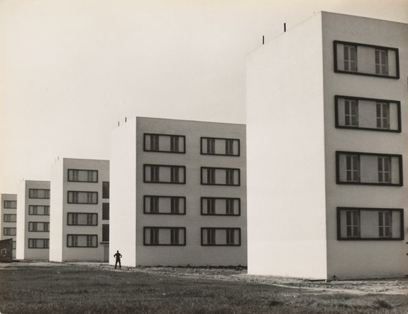 <p>Eduardo Salvatore, Untitled [Várzea do Carmo housing complex, São Paulo], ca. 1951. Gelatin silver print,11 15/16 x 15 9/16 inches. The Museum of Modern Art, New York. Acquired through the generosity of Richard O. Rieger. © 2021 Estate of Eduardo Salvatore.</p>