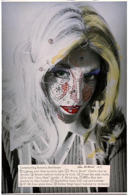 Lynn Hershman Leeson, <em>Roberta's Construction Chart 1</em>, 1975. Archival digital print and dye transfer, 35 5/8 x 23 5/8 inches. Courtesy the artist; Bridget Donahue Gallery, New York; and Altman Siegel, San Francisco.