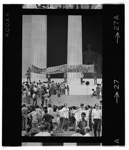 Warren K. Leffler and Thomas J. O'Halloran, Black Panther Convention, Lincoln Memorial, 1970. Courtesy the Library of Congress.