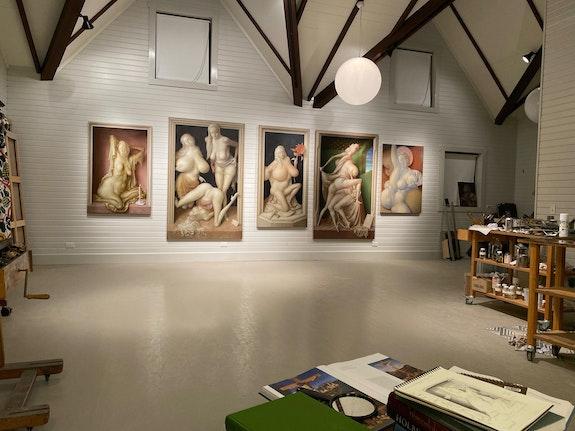 Partial view of the artist's studio, Mt. Desert, ME. Courtesy the artist.