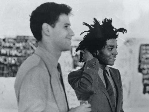 Stephen Torton and Jean-Michel Basquiat, 1982. Photo: Beth Phillips.