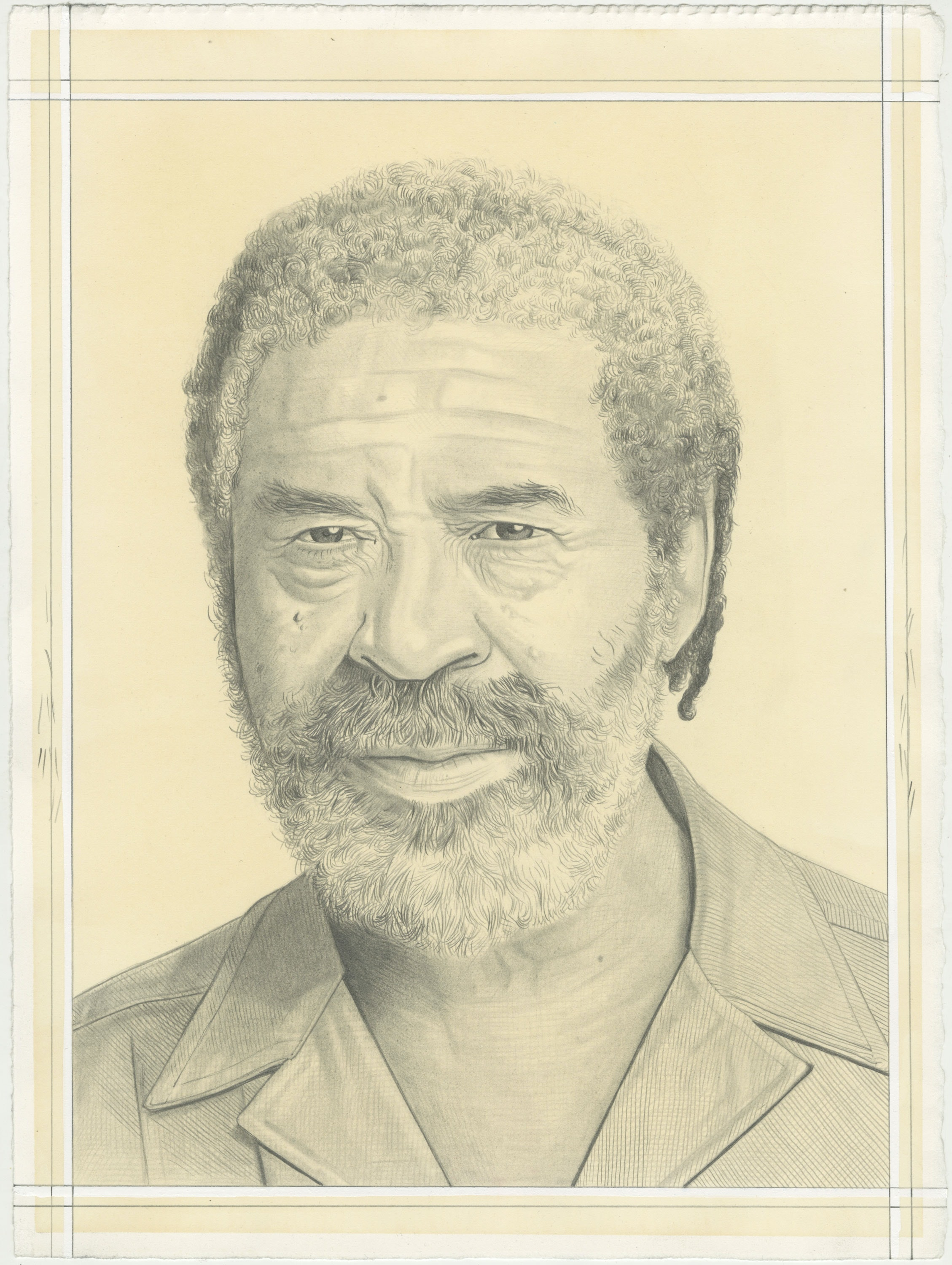 McArthur Binion, pencil on paper by Phong H. Bui. Based on a photo by Pasquate Abbattista.