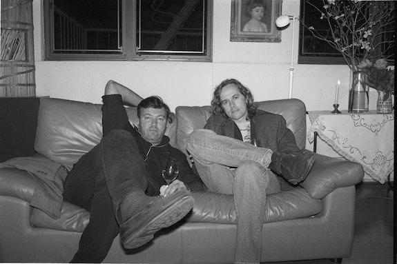 Diego Cortez and Raymond Foye, NYC, April 1990. Photo: Sally Larsen.