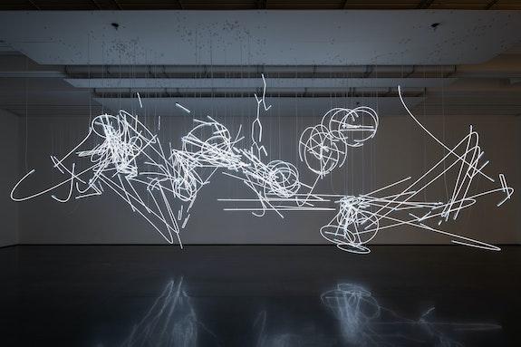 Installation view: <em>Cerith Wyn Evans: Aspen Drift</em>, Aspen Art Museum, 2021. Photo: Carter Seddon.