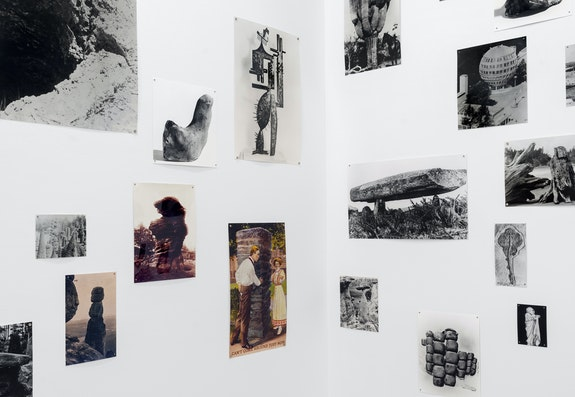 Tacita Dean, <em>Significant Form</em>, 2021. 130 photographs mounted on paper: 73 hand-printed black and white fibre-based photographs and 57 hand-printed color photographs, dimensions variable. Commissioned by The Hepworth Wakefield. © Tacita Dean. Courtesy Marian Goodman. Photo: Alex Yudzon.