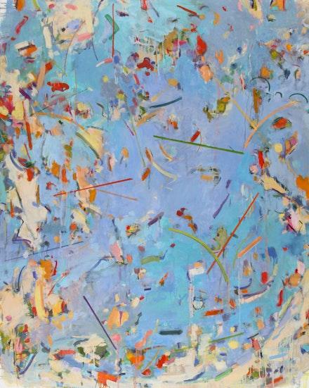Gina Werfel, <em>Plunge</em>, 2020. Oil on canvas, 60 x 48 inches. Courtesy the artist.