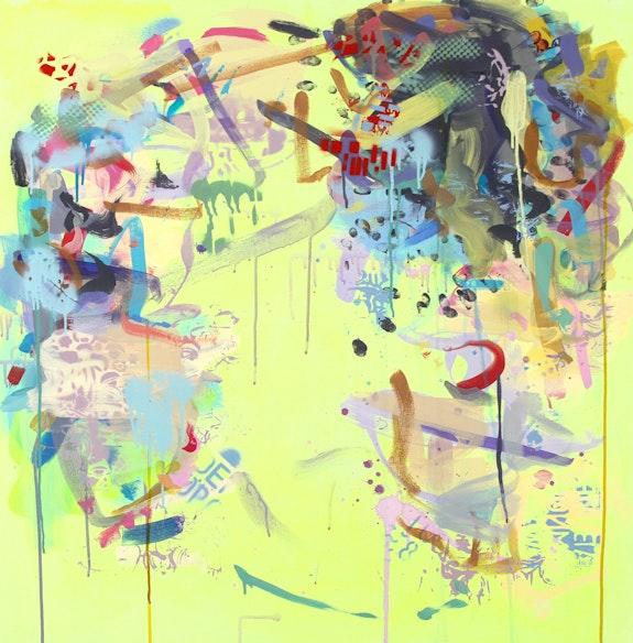 Gina Werfel, <em>Citron</em>, 2019. Acrylic on canvas, 36 x 36 inches. Courtesy the artist.