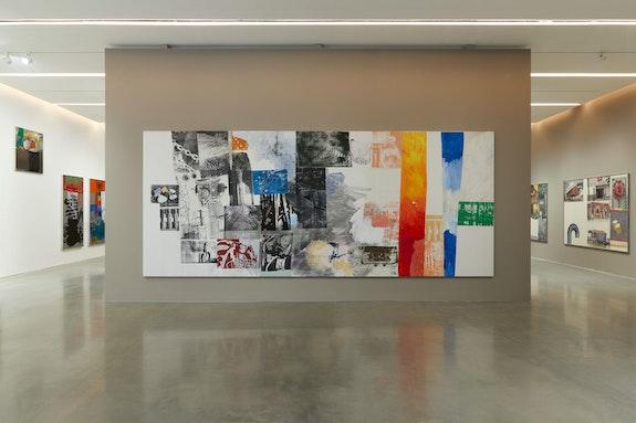 Installation view: <em>Robert Rauschenberg: Channel Surfing</em>, Pace Gallery, New York, 2021. Courtesy Pace Gallery.