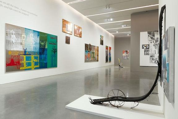 Installation view: <em>Robert Rauschenberg: Channel Surfing</em>, Pace Gallery, New York, 2021. Courtesy Pace Gallery
