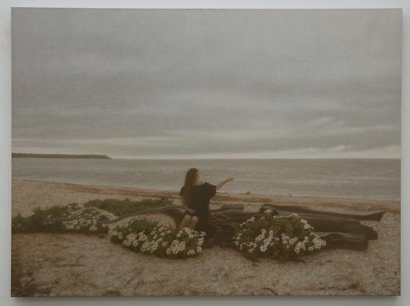 Matvey Levenstein, <em>Autumn</em>, 2020. Oil on linen, 40 x 54 inches. Courtesy the artist and Kasmin Gallery.