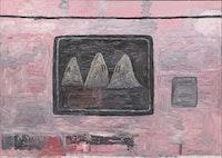 Philip Guston, <em>Blackboard</em>, 1969. Oil on canvas, 79 1/2 x 112 inches. © The Estate of Philip Guston. Courtesy Hauser & Wirth. Photo: Genevieve Hanson.