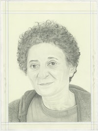 Portrait of Ghada Amer, pencil on paper by Phong H. Bui.
