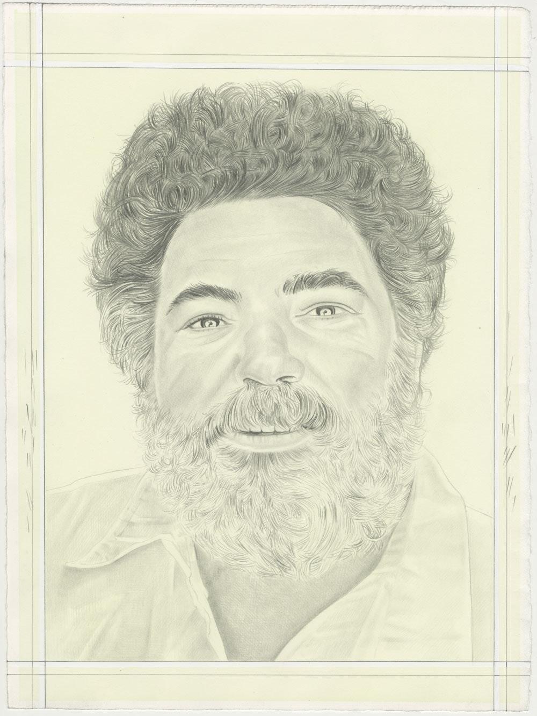 Portrait of Jorge Pardo, pencil on paper by Phong H. Bui.