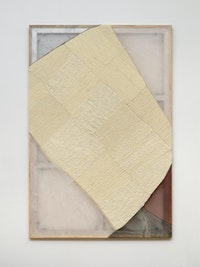 Martha Tuttle, <em>After Cadillac Ranch</em>, 2021. Wool, silk, graphite, pigment, and dye, 72 x 48 inches. Courtesy the artist and Tilton Gallery, New York.