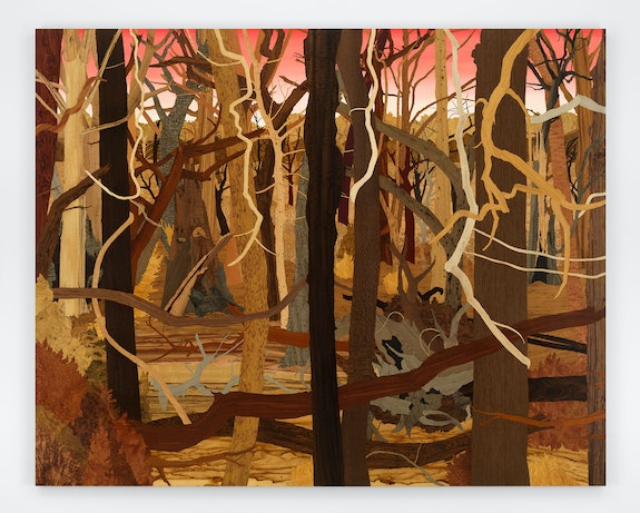 Alison Elizabeth Taylor, <em>Meet You There</em>, 2021. Marquetry hybrid, 96 x 120 inches total. © Alison Elizabeth Taylor 2021. Image courtesy the artist and James Cohan, New York. Photo by Dan Bradica.