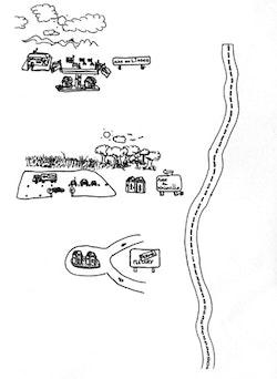Drawing by Stéphane Hébert.