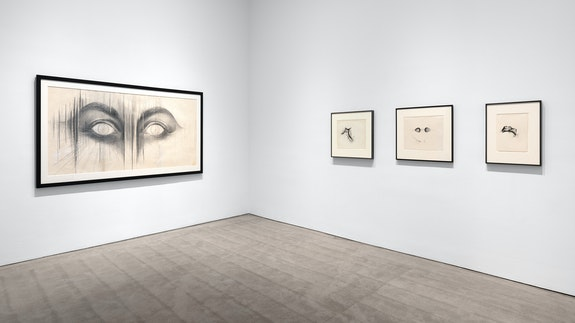 """Installation view: BRUCE CONNER & JAY DEFEO: (""""we are not what we seem"""") Paula Cooper Gallery, New York, 2021. Photo: Steven Probert. Courtesy Paula Cooper Gallery, New York."""