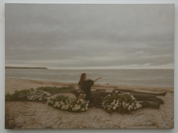 Matvey Levenstein, <em>Autumn, </em>2020. Oil on linen, 40 x 54 inches. Courtesy the artist and Kasmin Gallery.