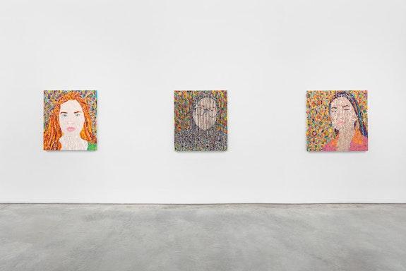 <em>Ghada Amer: Women I Know Part II</em>, 2021. Marianne Boesky Gallery. Installation view. Photo: Lance Brewer