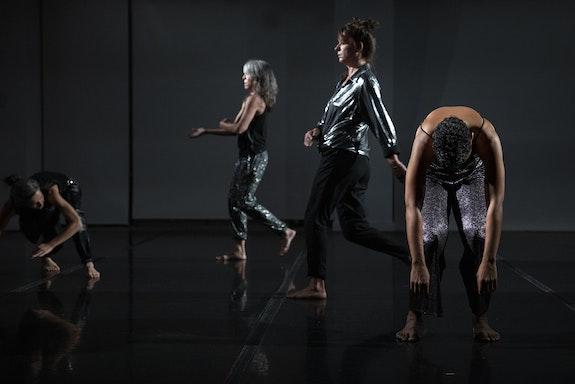 Left to Right: Ildikó Tóth, Colleen Thomas, Ermira Goro, and Rosalynde LeBlanc in Collen Thomas's <em>Light and Desire</em> at New York Live Arts. Photo: Maria Baranova.