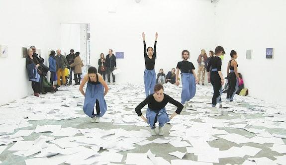 Madeline Hollander, <em>Competition</em>, 2017. Performed at Bartolami Gallery, New York, by Marielis Garcia, Katie Gaydos, LaurenNewman, Jeremy Pheiffer, Asami Tomida, and Madeline Hollander