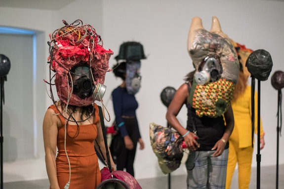 Kevin Beasley, <em>Your face is/is not enough</em>, 2018. Performance at Tate Liverpool, Liverpool Biennial 2018, 14 July 2018. Tate, London, Presented by the Tate Americas Foundation, courtesy of the North American Acquisitions Committee in honour of Bob Rennie, Chair of the Committee 2010–2016, 2017, accessioned 2021. Image courtesy the artist and Casey Kaplan, New York. Photo: Mark McNulty