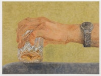 Katelyn Eichwald, <em>Thirsty</em>, 2021. Oil on linen, 36 x 48 inches. Courtesy the artist and Fortnight Institute, New York.