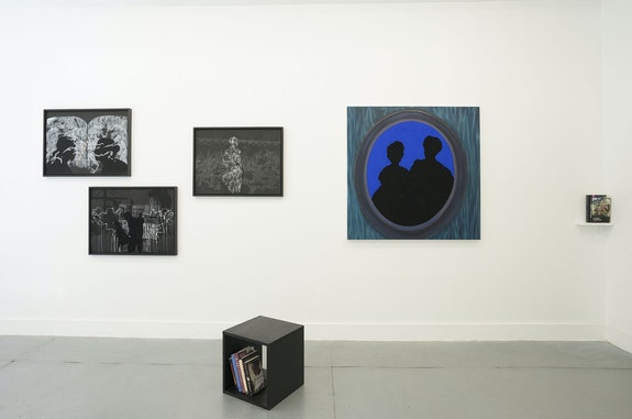 Installation view: <em>Alex Callender, All Her Loves and All Her Disappointments</em>, Rubber Factory, New York, 2021. Courtesy Rubber Factory.
